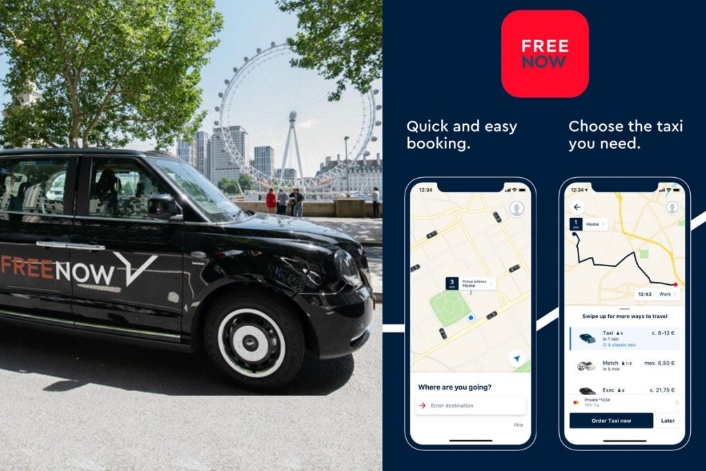 All UK Taxis to go Electric by 2024 and to work on Free Now App 1